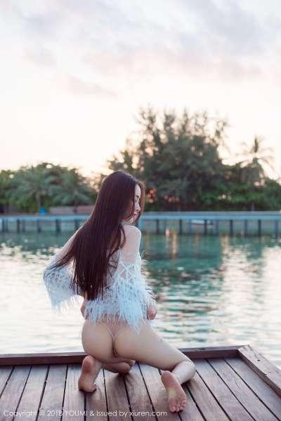 御姐@穆菲菲 - 马尔代夫旅拍海边主题写真~
