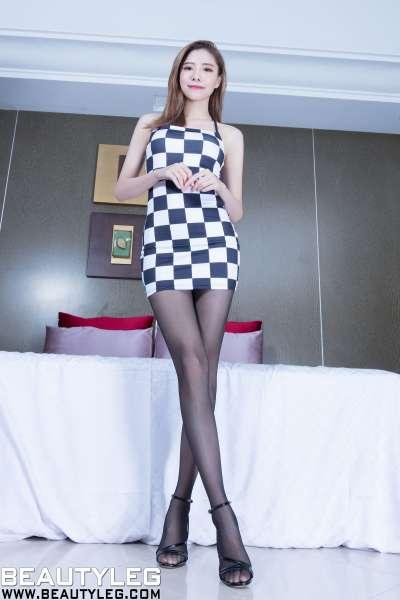 腿模Abby - 黑丝长腿+运动服内衣套图~